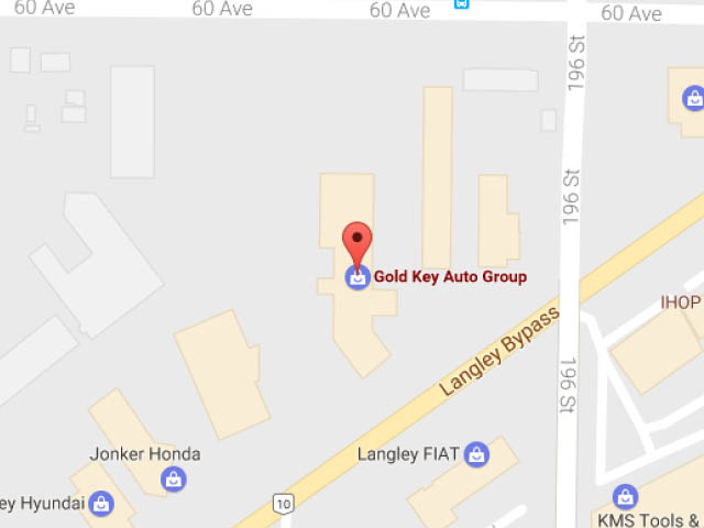Location of Gold Key Auto to find our Audi Q7s for Sale in Langley